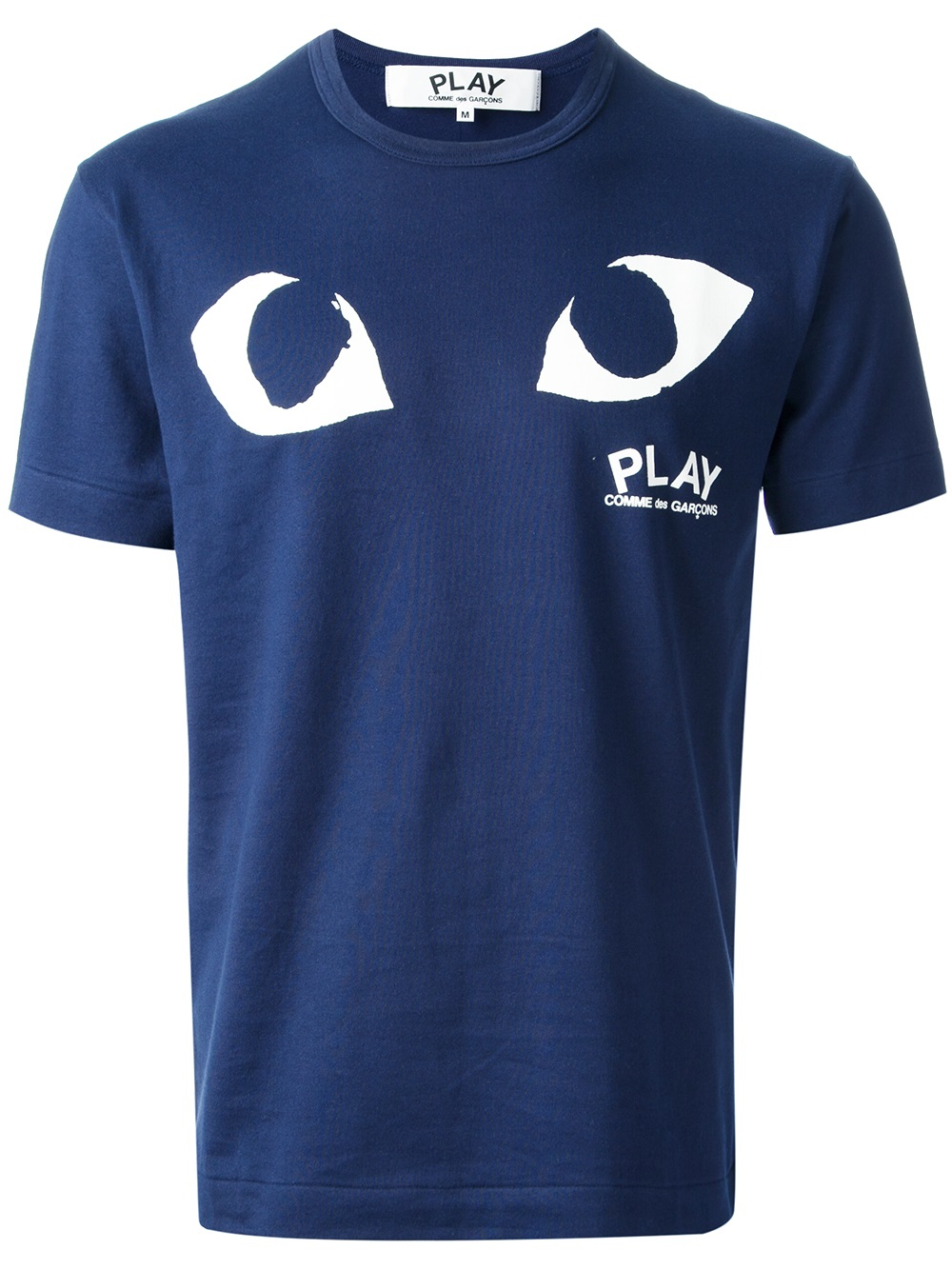Play Comme Des Gar Ons Printed Eyes T Shirt In Blue For