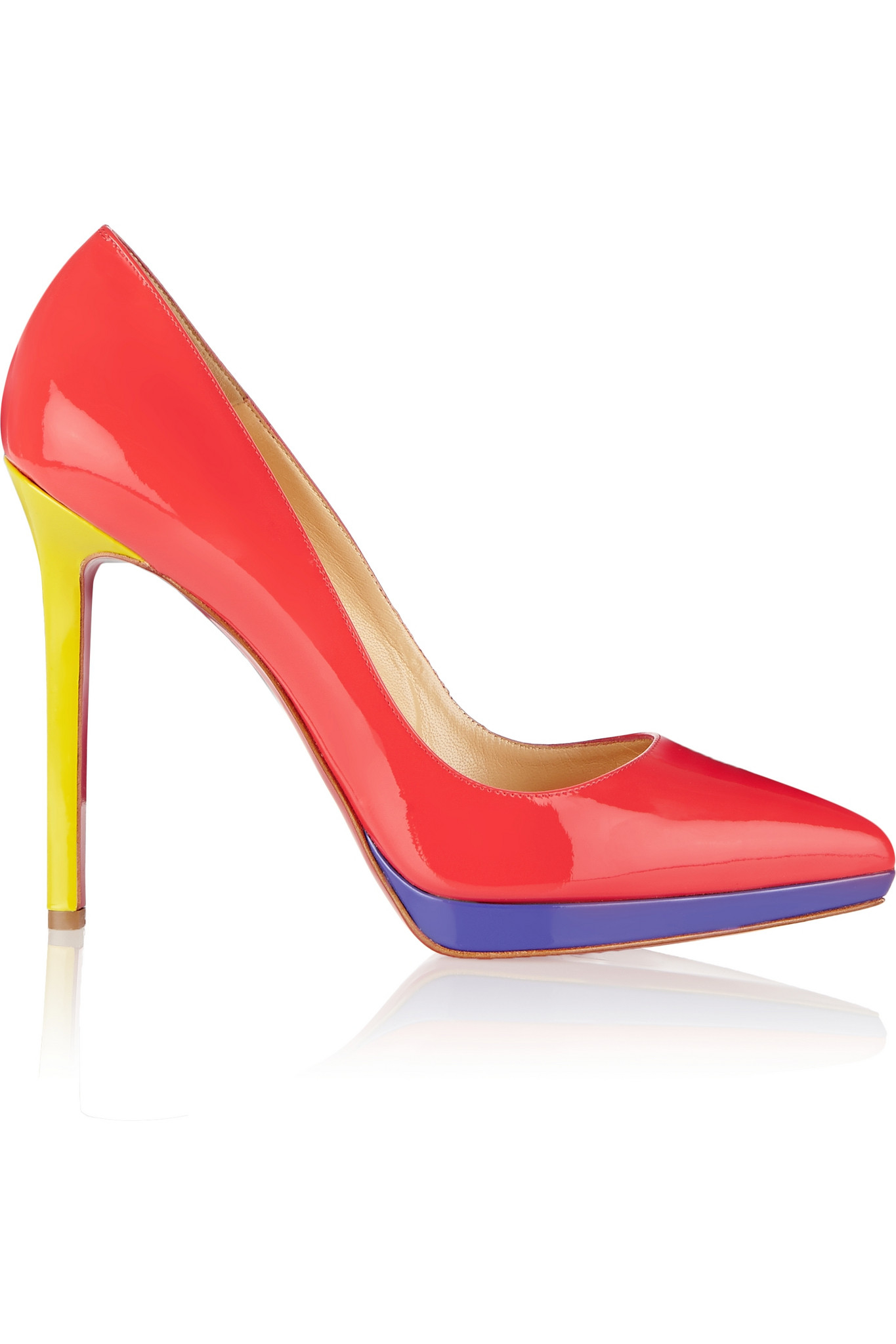 2c433d0ed633 Lyst - Christian Louboutin Pigalle Plato 120 Patent-leather Pumps in ...