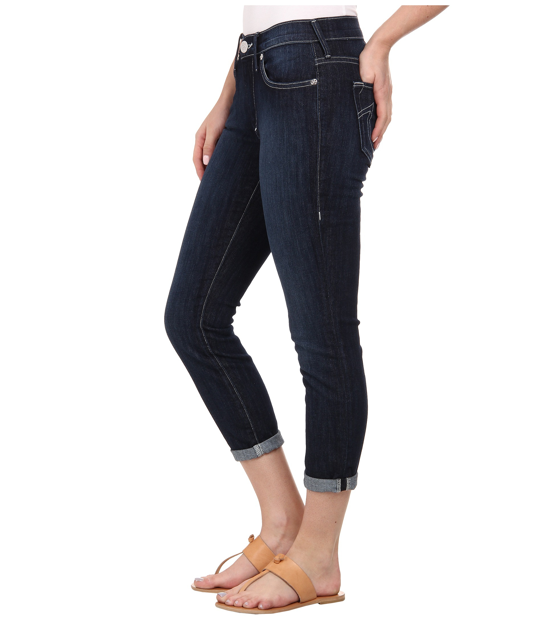 True religion halle skinny cropped jeans