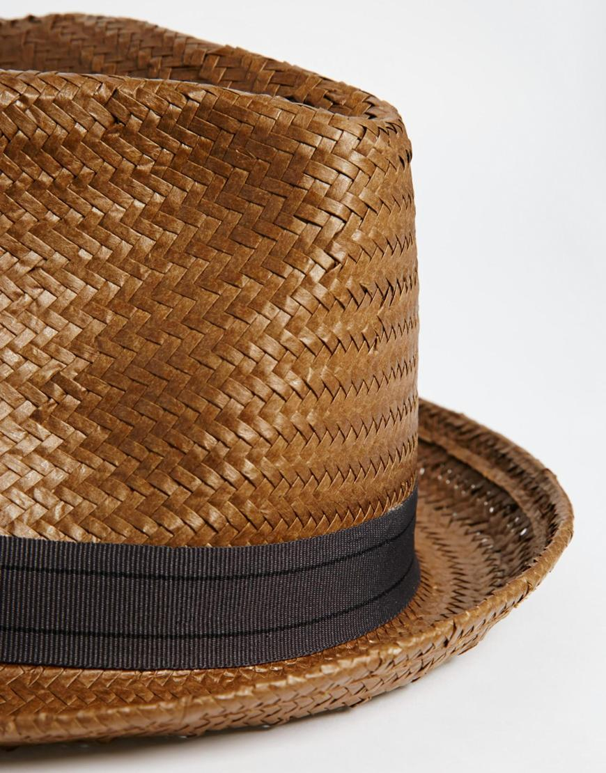 Polo Ralph Lauren Natural Straw Fedora Hat in Beige for Men (natural)   Lyst