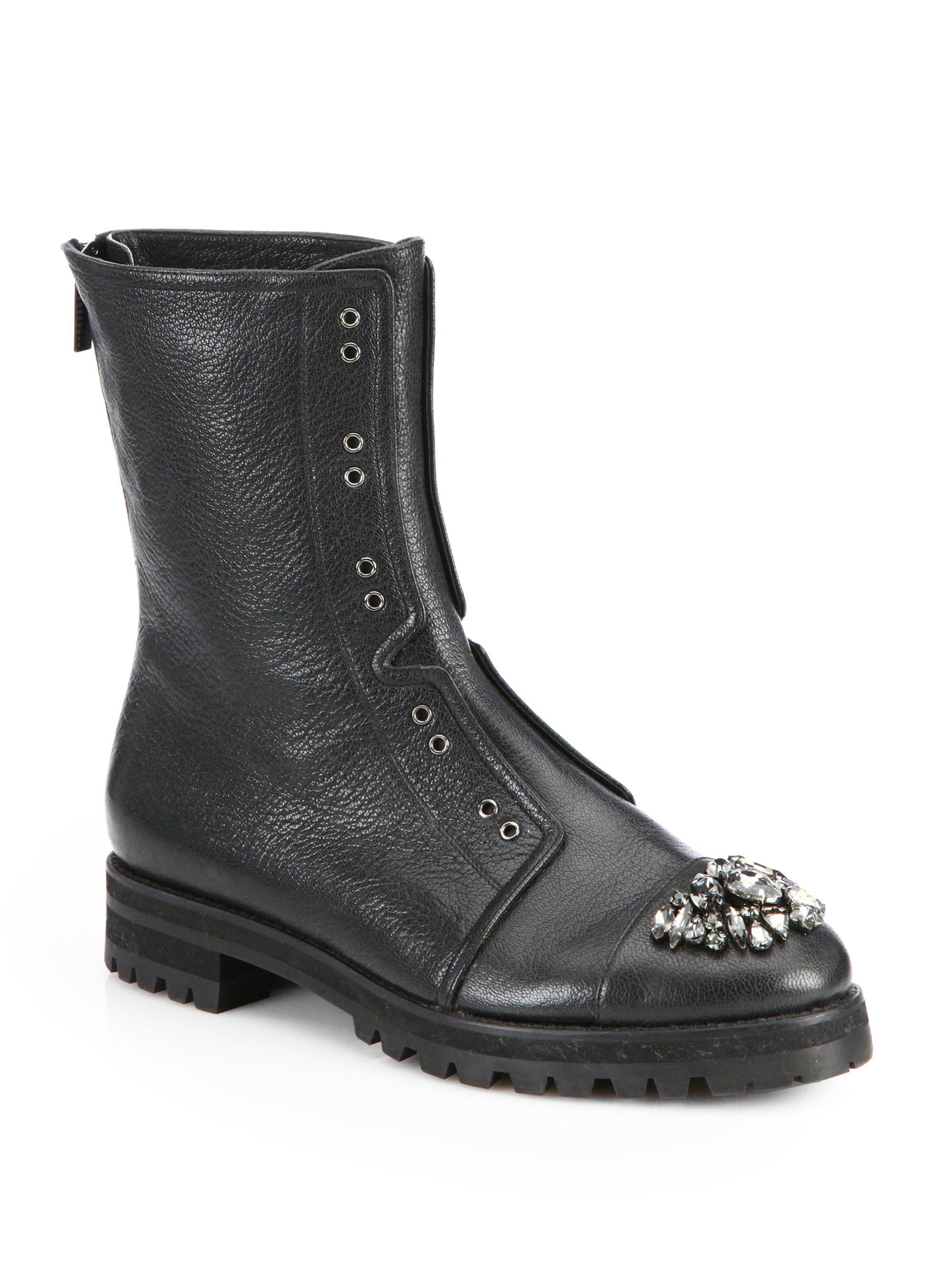 Jimmy Choo Hatcher Embellished Leather