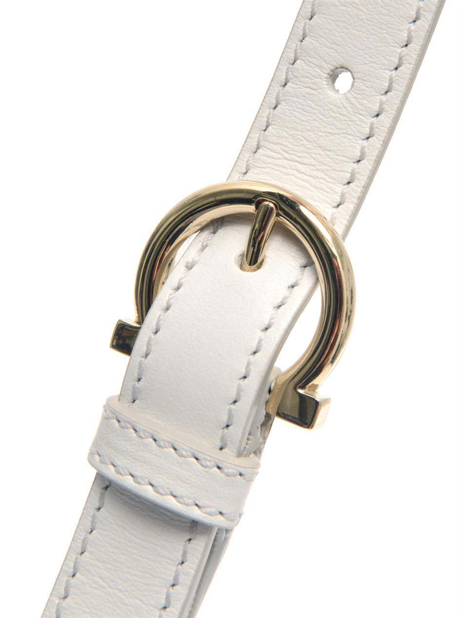 f860f5751b Lyst - Ferragamo Sofia Wicker Bag in White