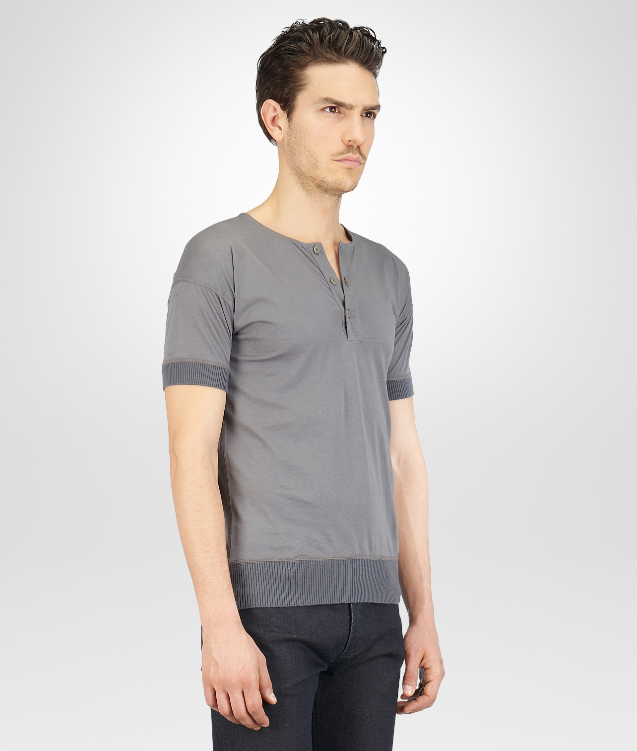 Lyst bottega veneta new light grey organic cotton for Bottega veneta t shirt