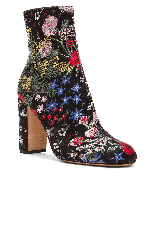 Valentino Camu Garden Jacquard Boots In Black Lyst