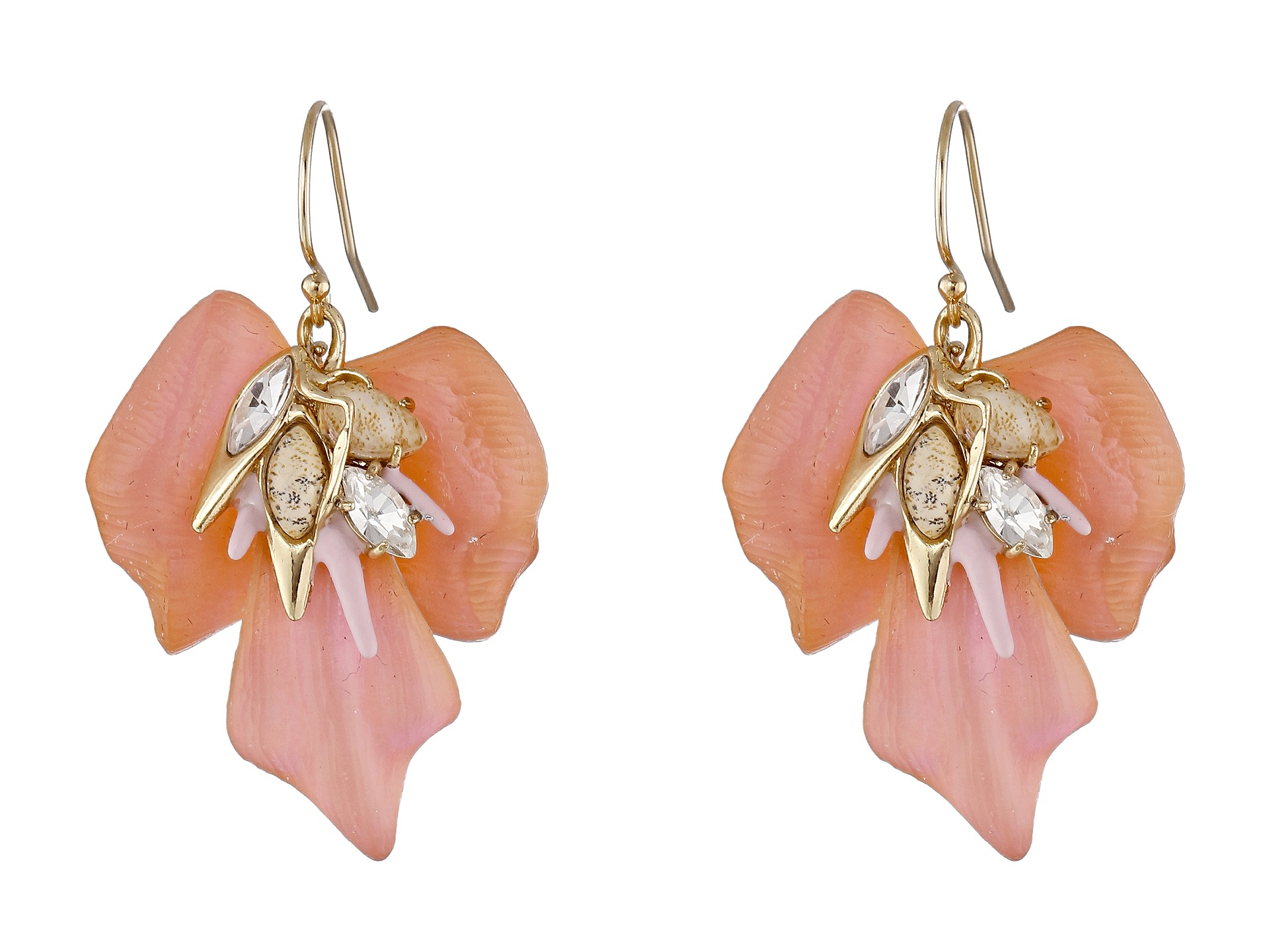 Lyst - Alexis Bittar Floral Punk Orchid Wire Earrings in Pink