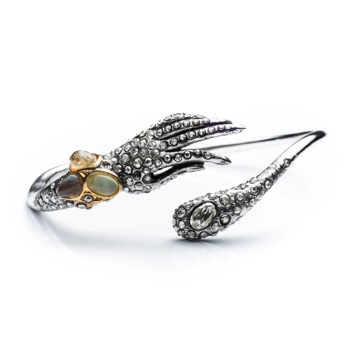 Lyst alexis bittar jardin mystere jeweled hand bypass for Jardin francais jewelry