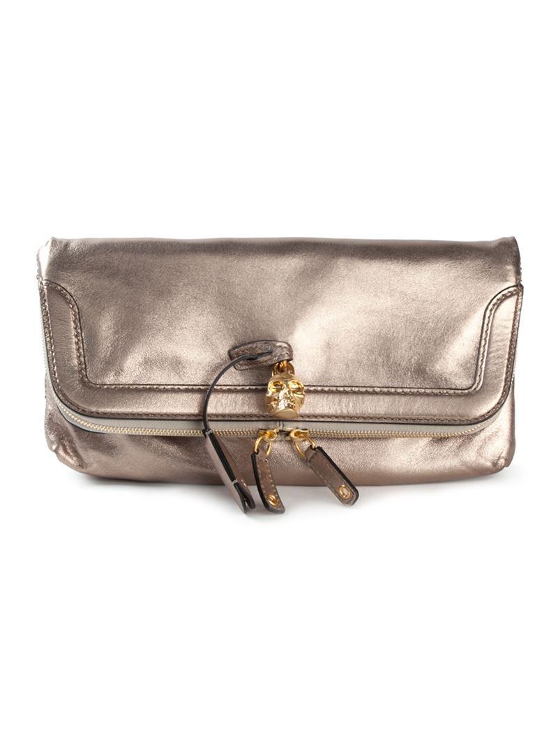 Alexander McQueen Embossed Leather ... - shop-celebrity.com