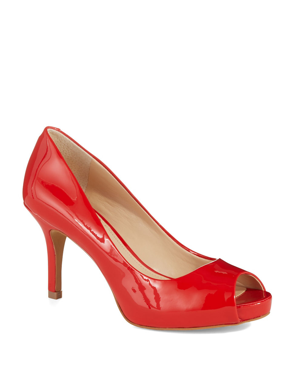 Vince Camuto Kiley Patent Leather Pumps In Red Lyst