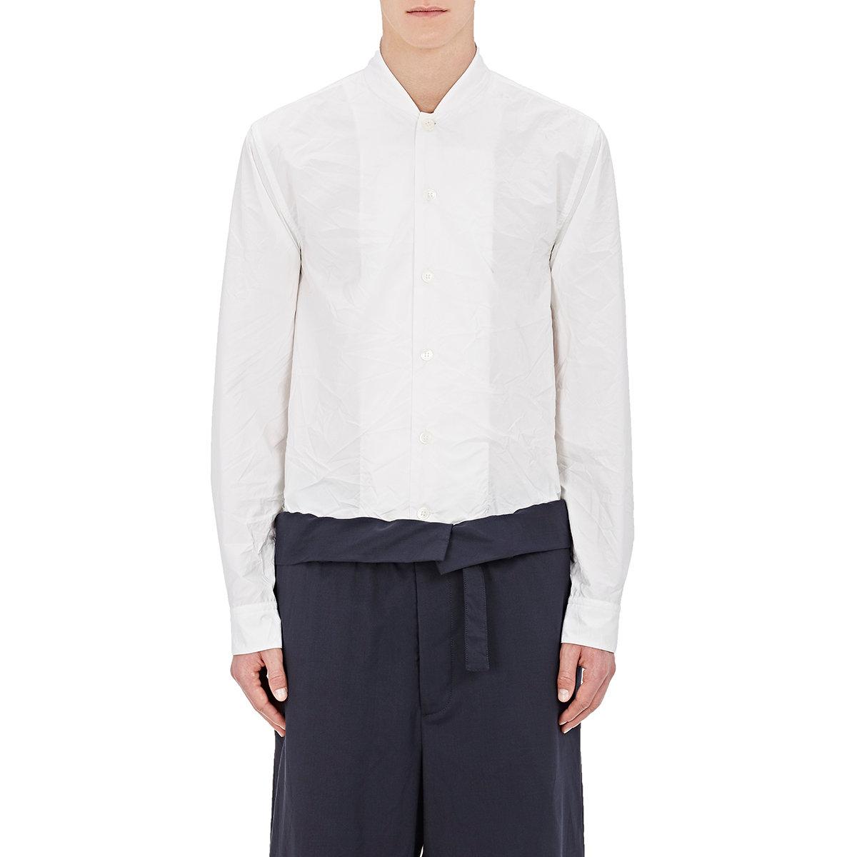 Marni Men's Wrinkled Shirt in White for Men | Lyst