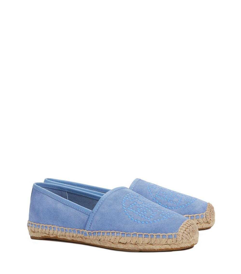 34c6c63a59e4 Lyst - Tory Burch Kirby Flat Espadrille in Blue