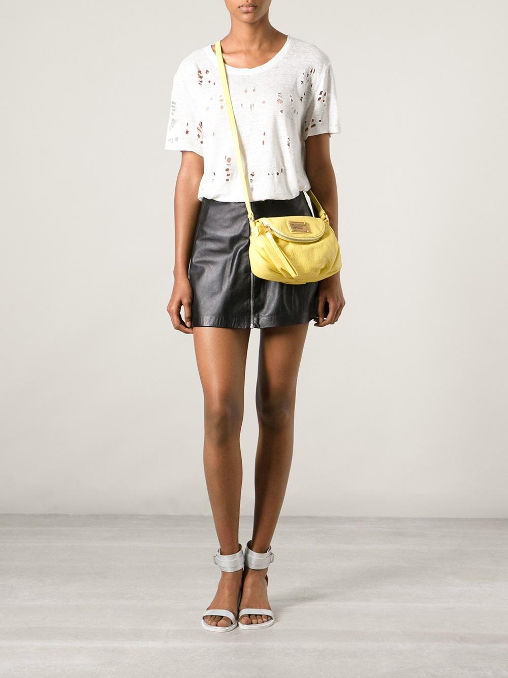 002307e152d34 Marc By Marc Jacobs Classic Q Mini Natasha Shoulder Bag in Yellow - Lyst
