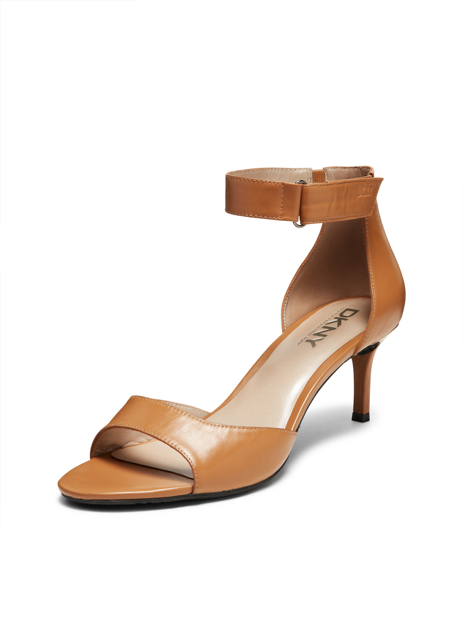 Lyst - Dkny Gianna Kitten Heel Sandal in Brown