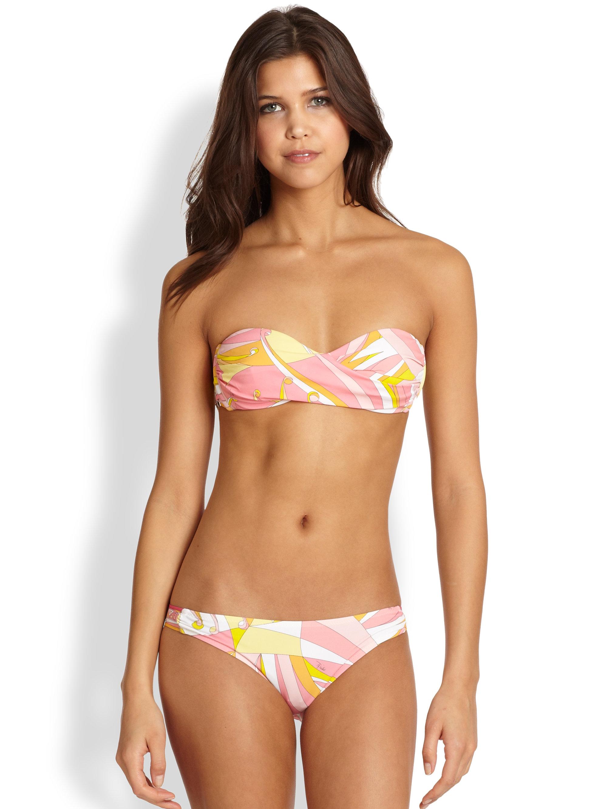 Emilio Pucci Twopiece Bandeau Bikini in Pink