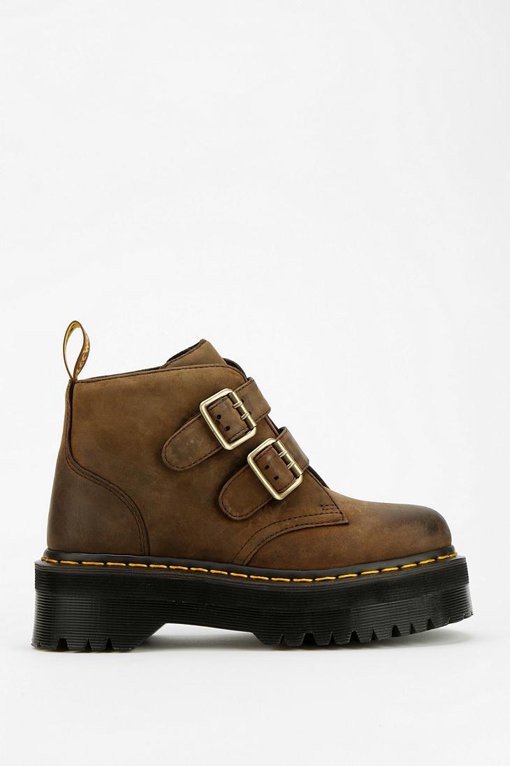 Dr Martens Devon Platform Ankle Boot In Brown Lyst