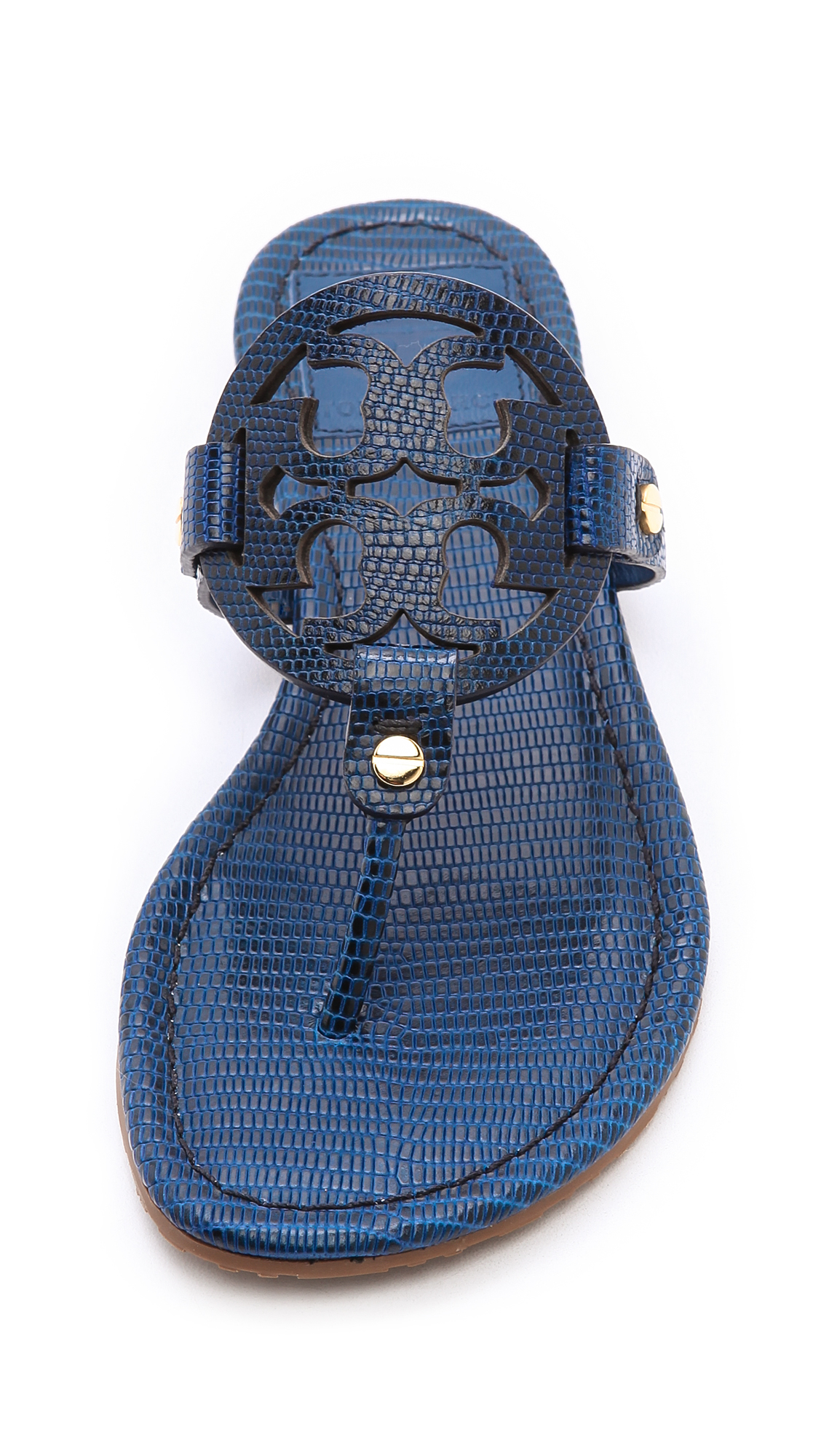 lyst tory burch miller tejus print sandals newport navy