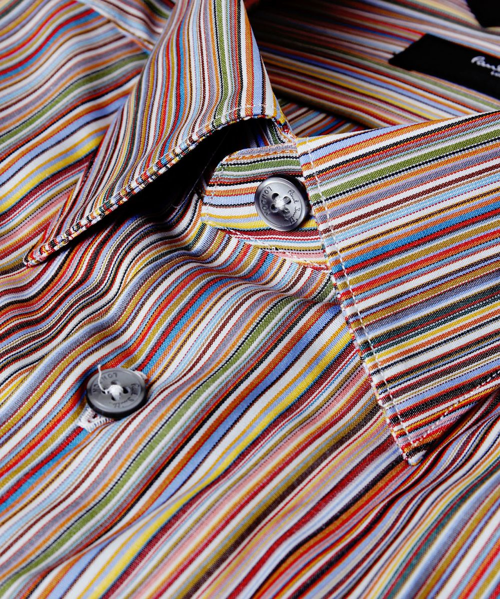 Lyst Paul Smith Tailored Fit Signature Striped Shirt For Men