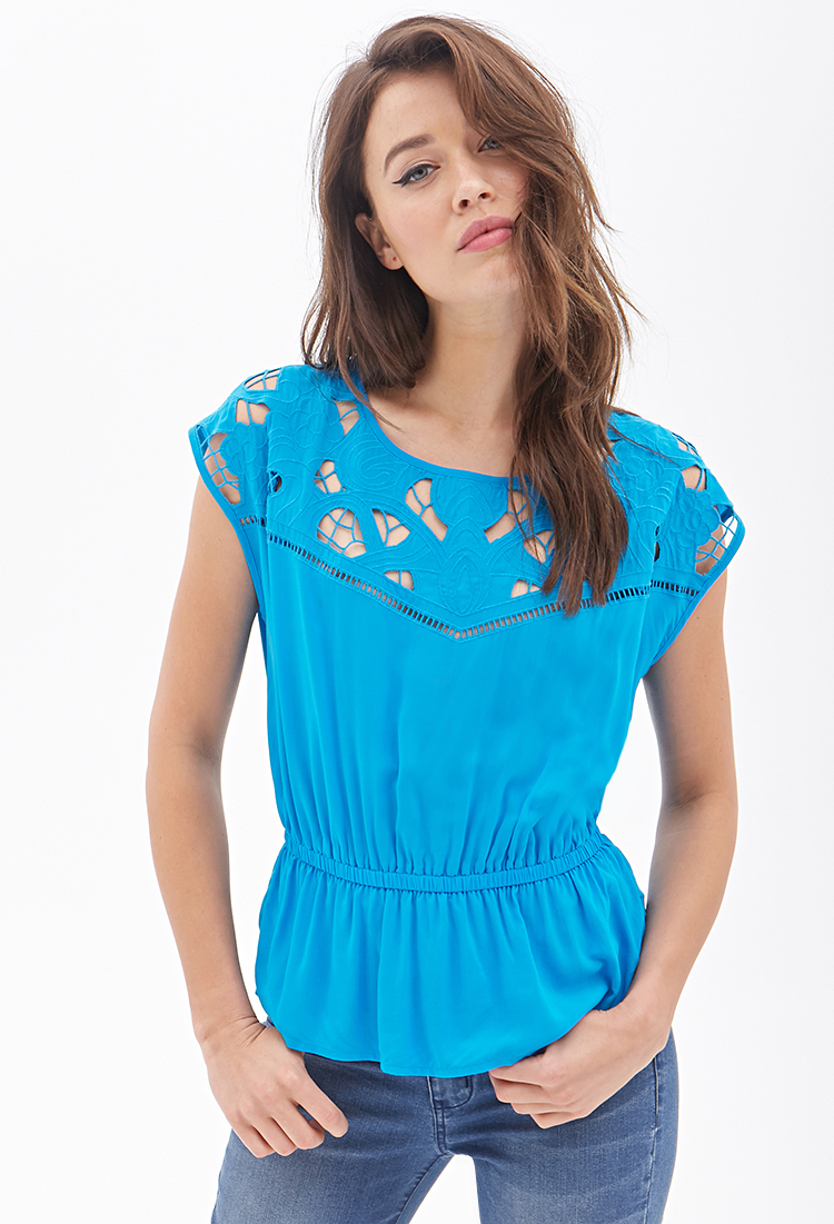 Turquoise Blouse Forever 21 15
