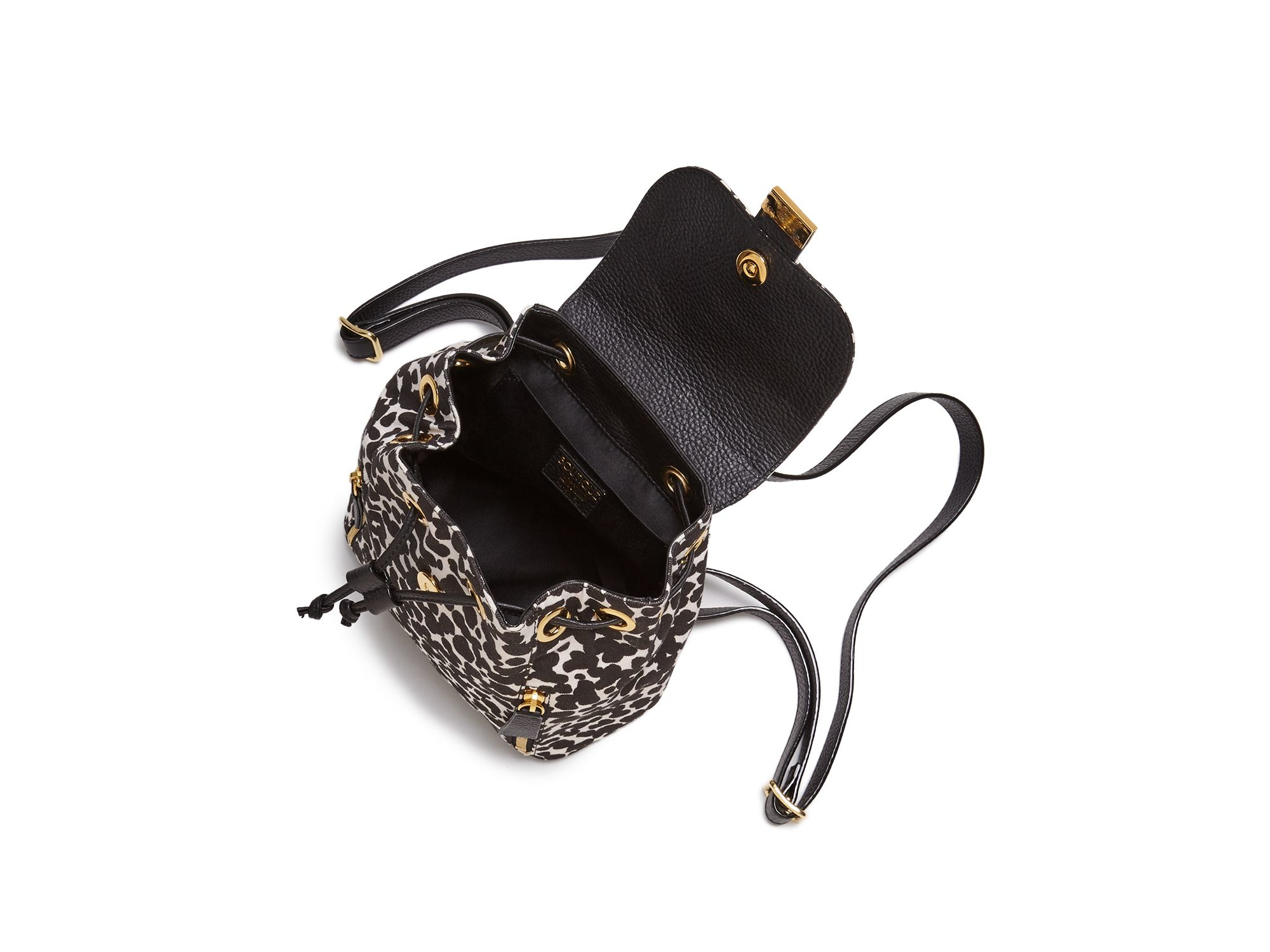 Boutique Moschino Cotton Leopard Print Backpack