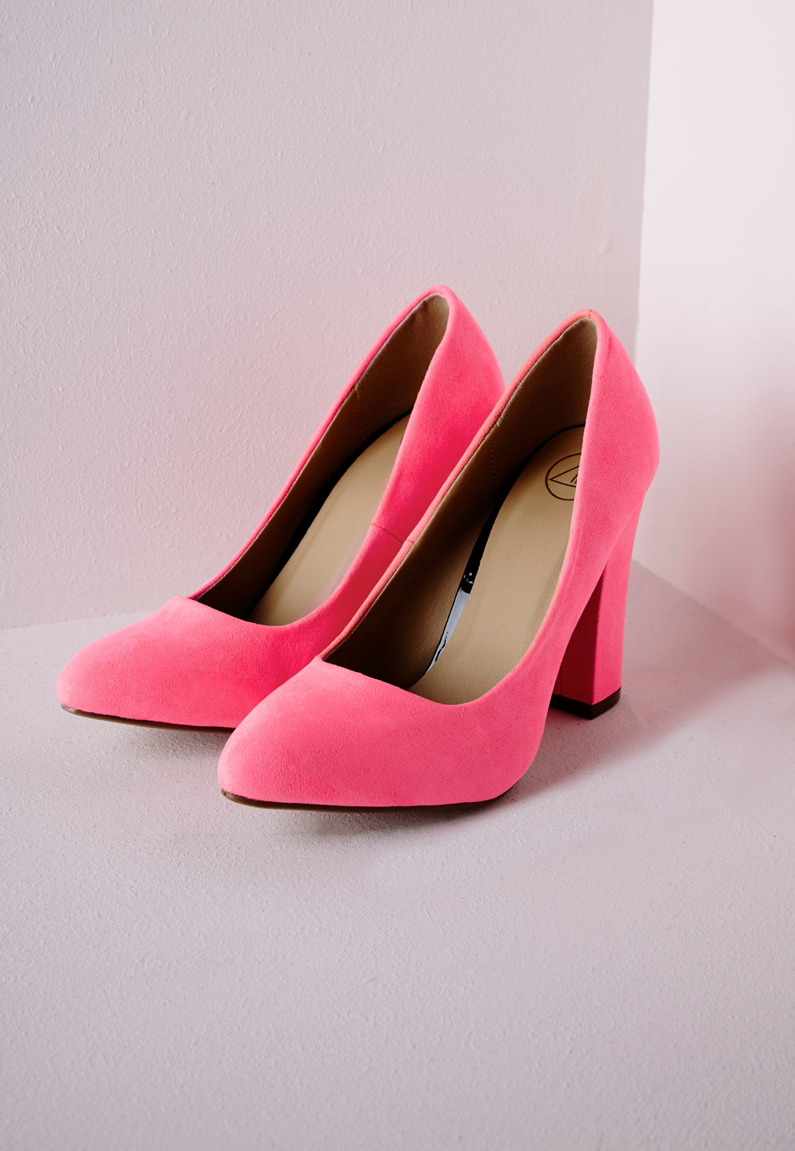 1a748838c4a Lyst - Missguided Block Heel Pumps Neon Pink in Pink