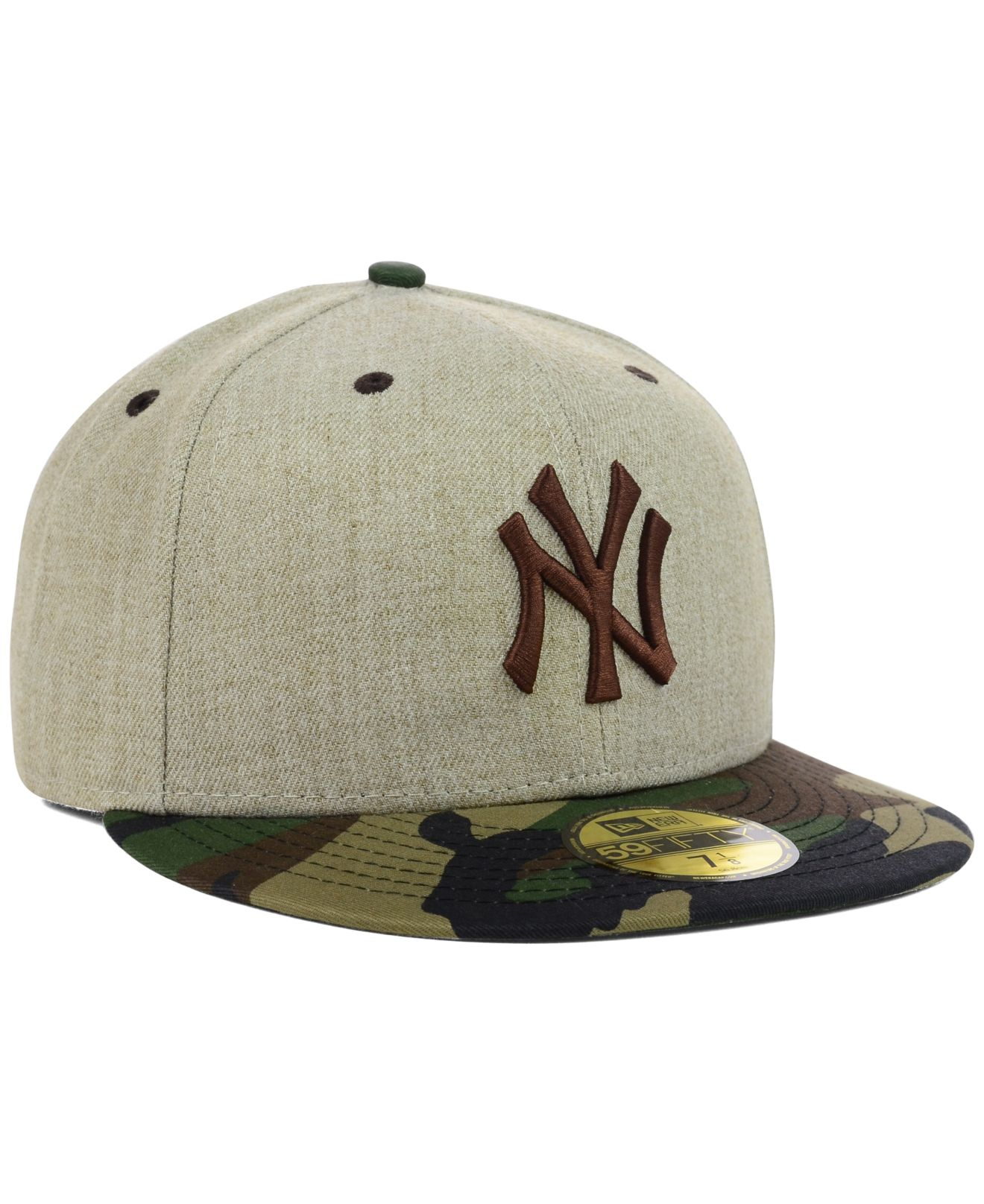 brand new 73669 e0331 ... cheap lyst ktz new york yankees heather mashup 59fifty cap in natural  9ce81 31b38