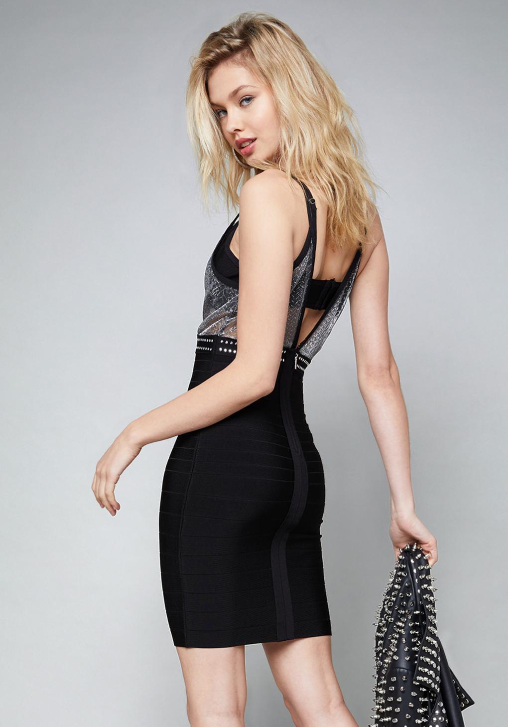 95a7684c27d Lyst - Bebe Bralette Bandage Mini Dress in Black