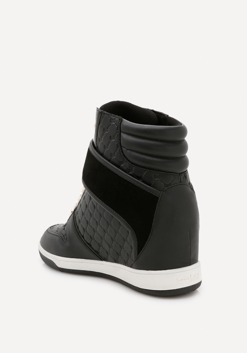 Bebe Synthetic Colby High Top Sneakers in Black