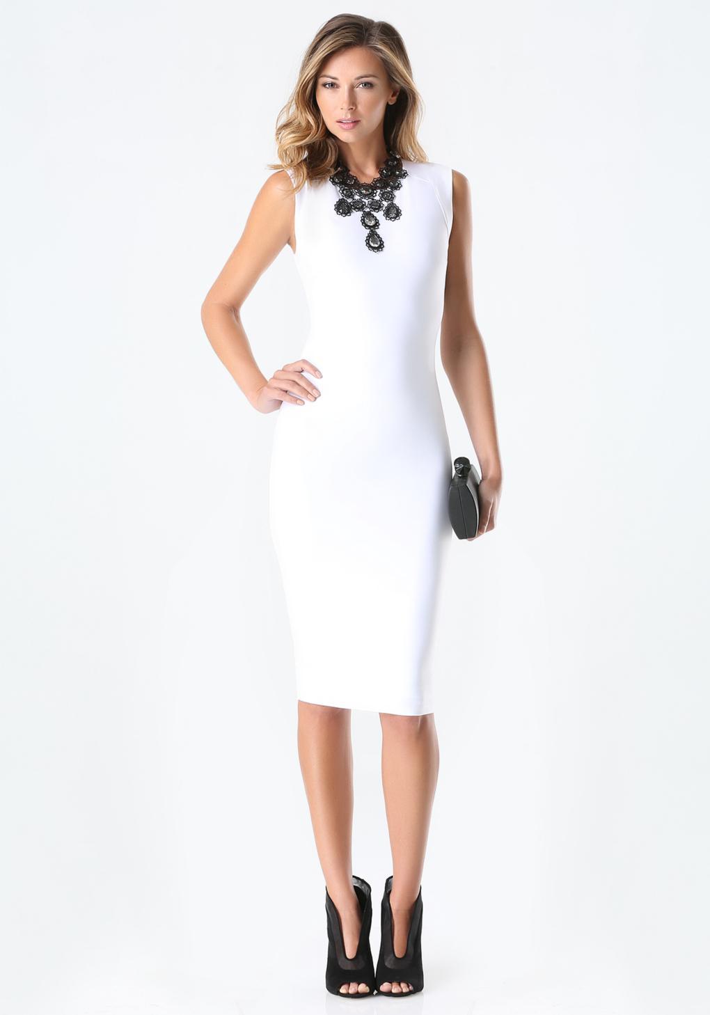 Reyna bodycon midi dress