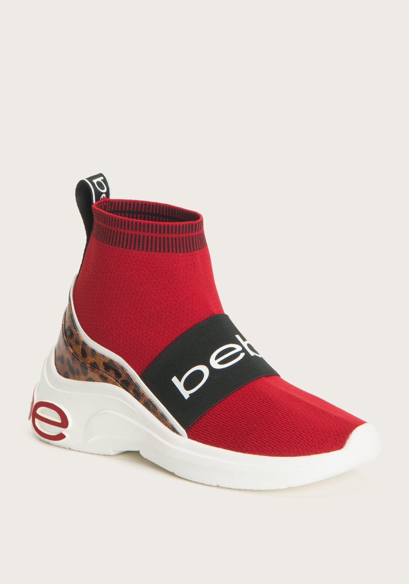 red sock sneakers