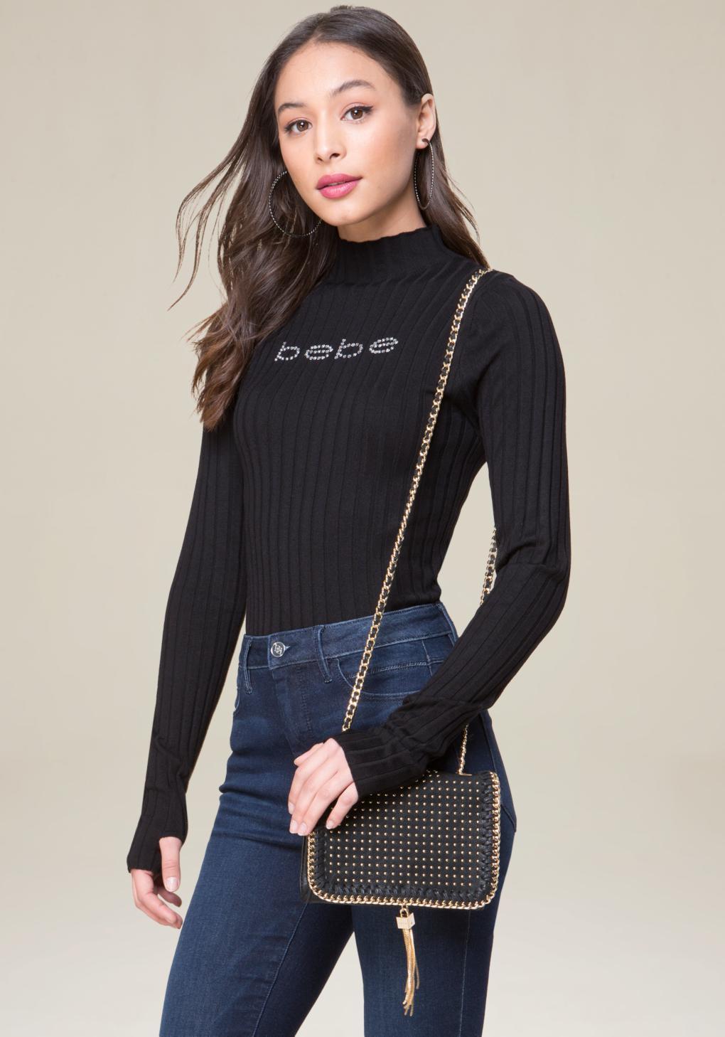 Bebe Isabella Crossbody Bag in Black