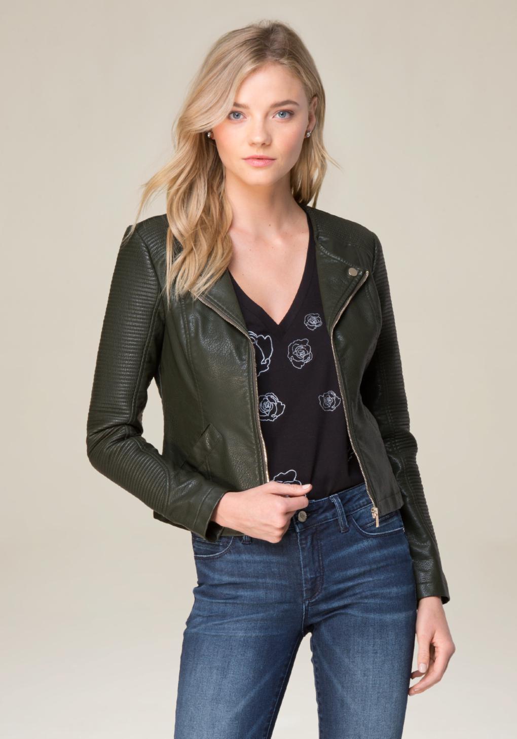 c89b542455 Bebe Courtney Moto Jacket - Lyst