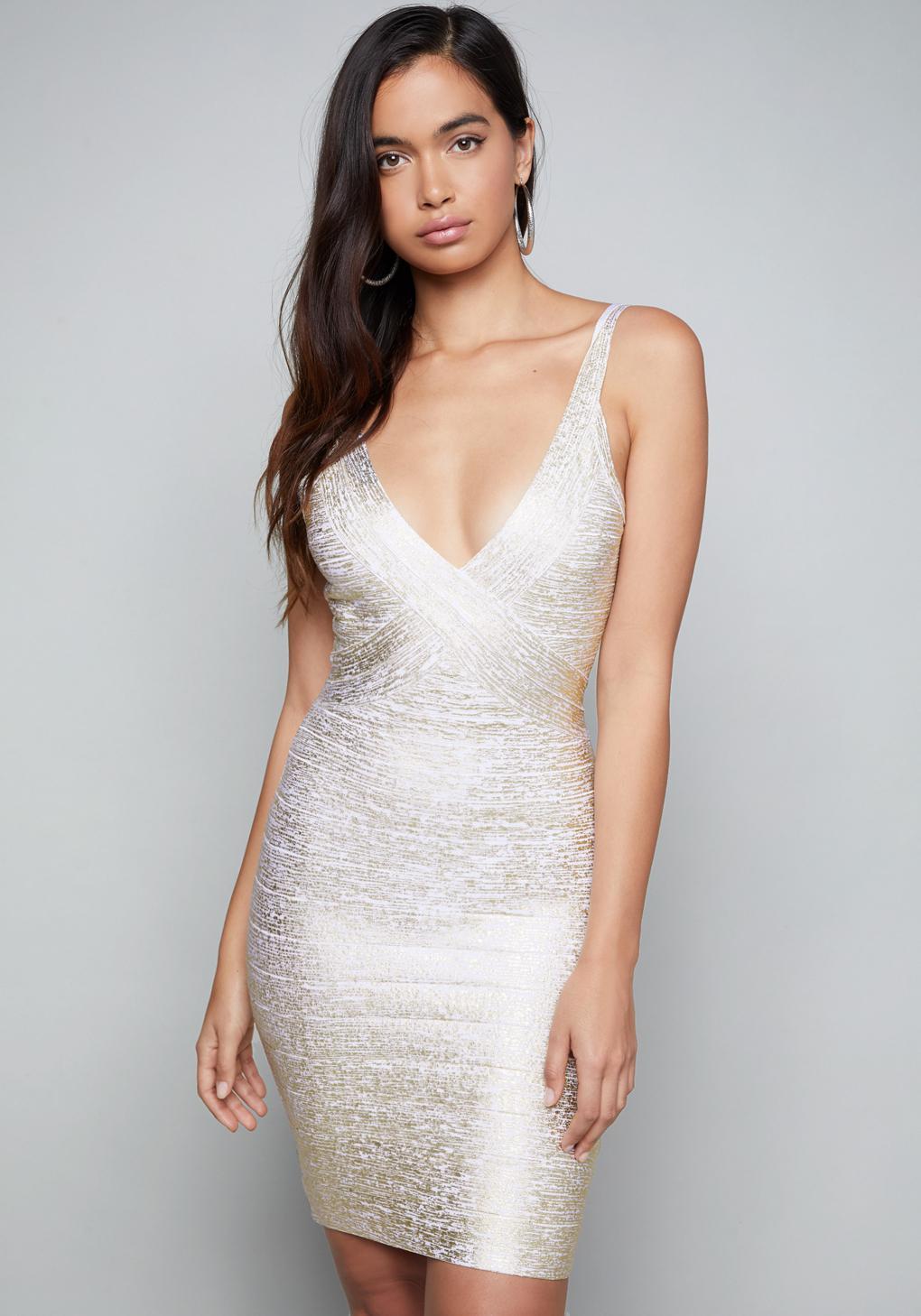 Bebe Gold Dress