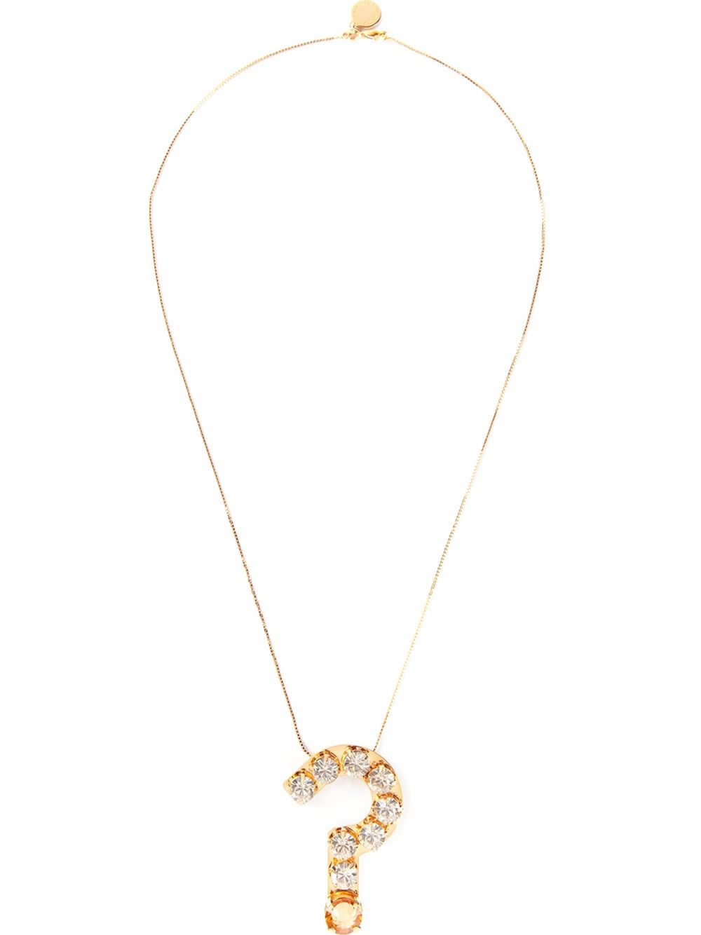 Lyst stella mccartney question mark necklace in metallic gallery aloadofball Image collections