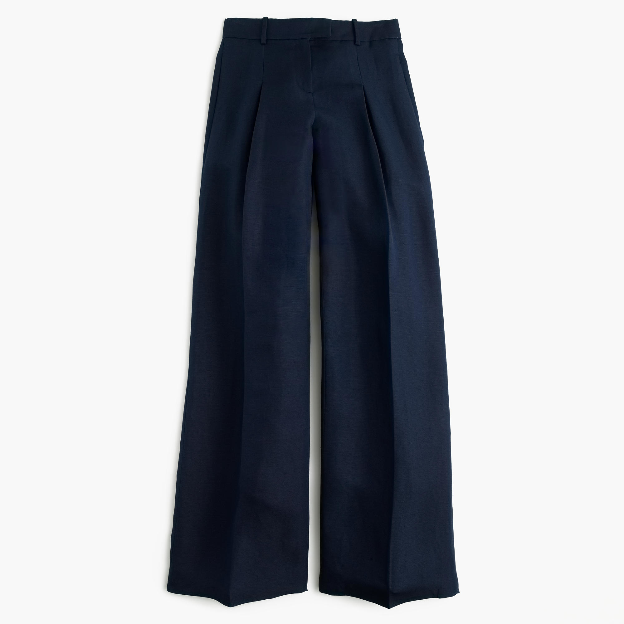 2f6fc4967bb Lyst - J.Crew Collection Wide-leg Pant In Silk-linen in Blue