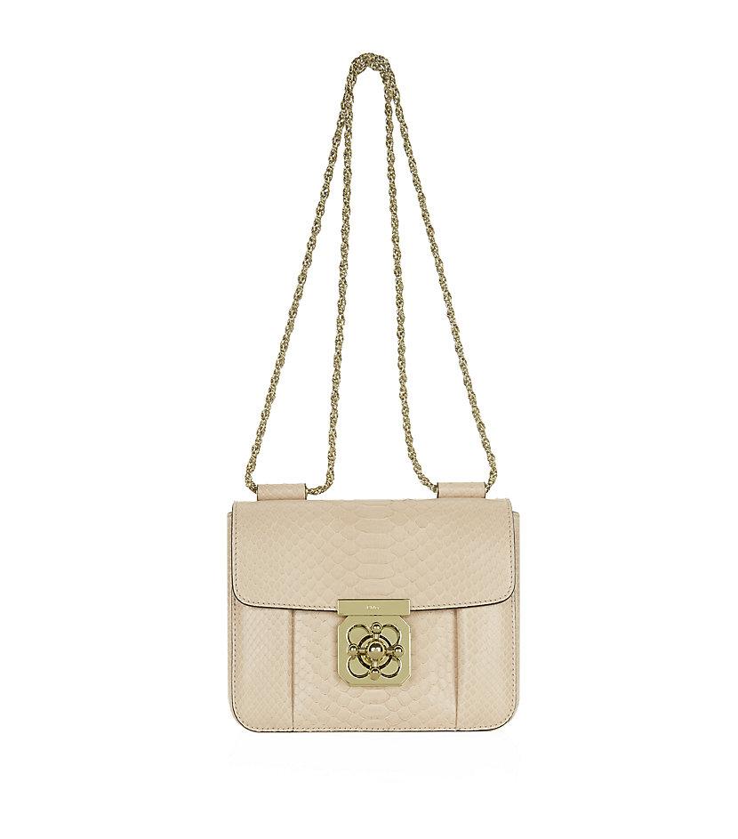 cloe purses - elsie mini bag in python