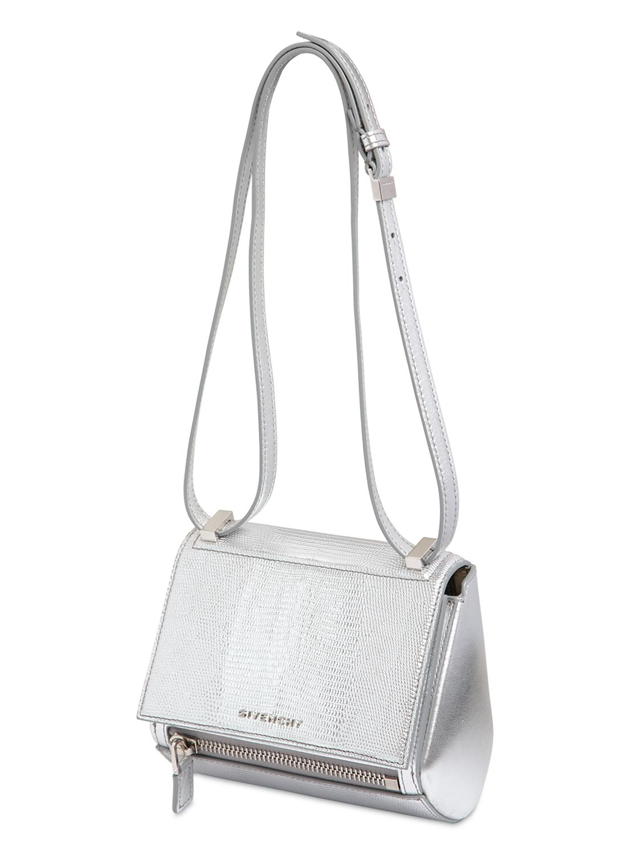 5e90c0f4c836 Lyst - Givenchy Mini Pandora Box Metalized Leather Bag in Metallic