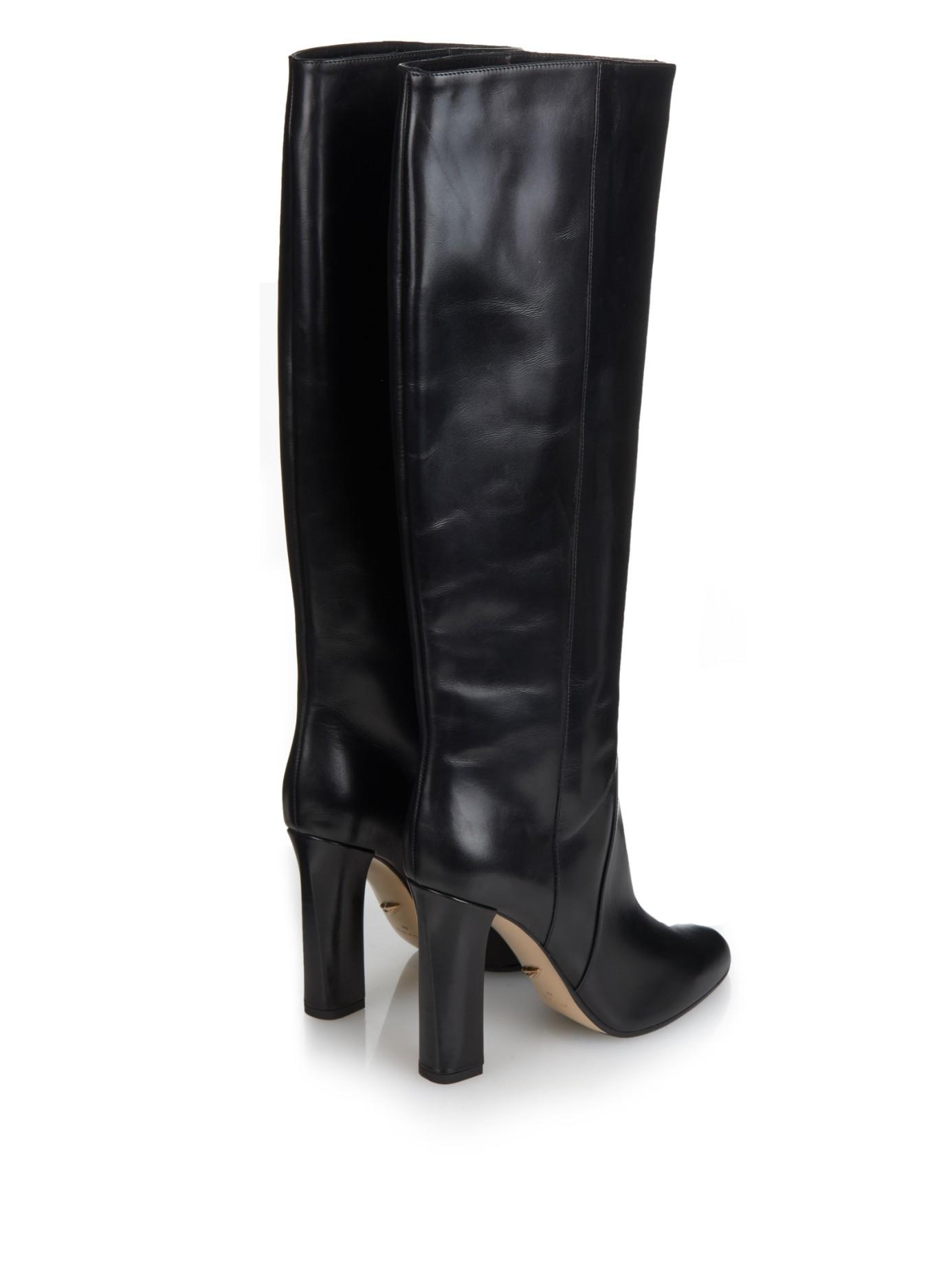 Diane Von Furstenberg Gladyss Knee High Boots In Black Lyst