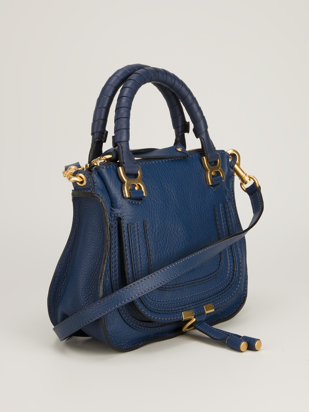 lyst chlo marcie mini shoulder bag in blue. Black Bedroom Furniture Sets. Home Design Ideas