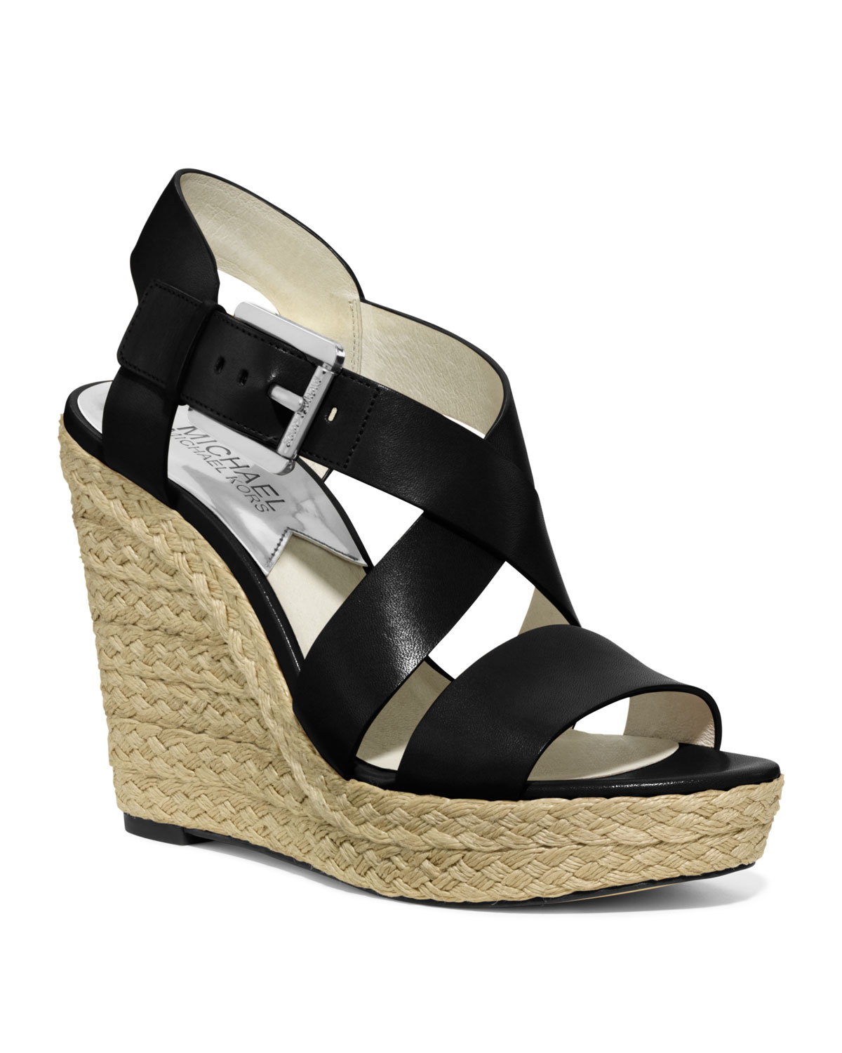 Michael Kors Giovanna Espadrille Wedge Sandal In Black Lyst