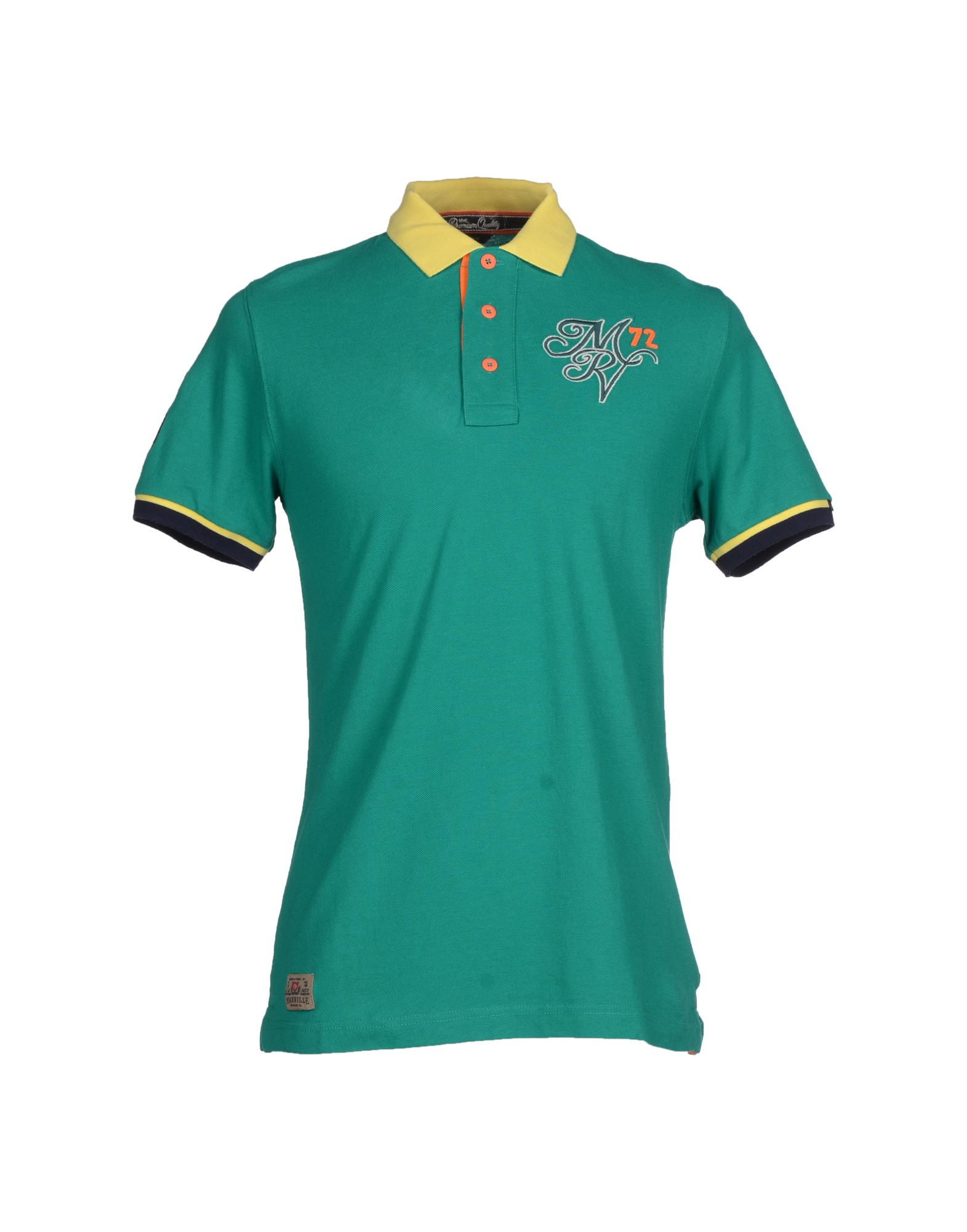 Marville polo shirt in green for men lyst Emerald green mens dress shirt