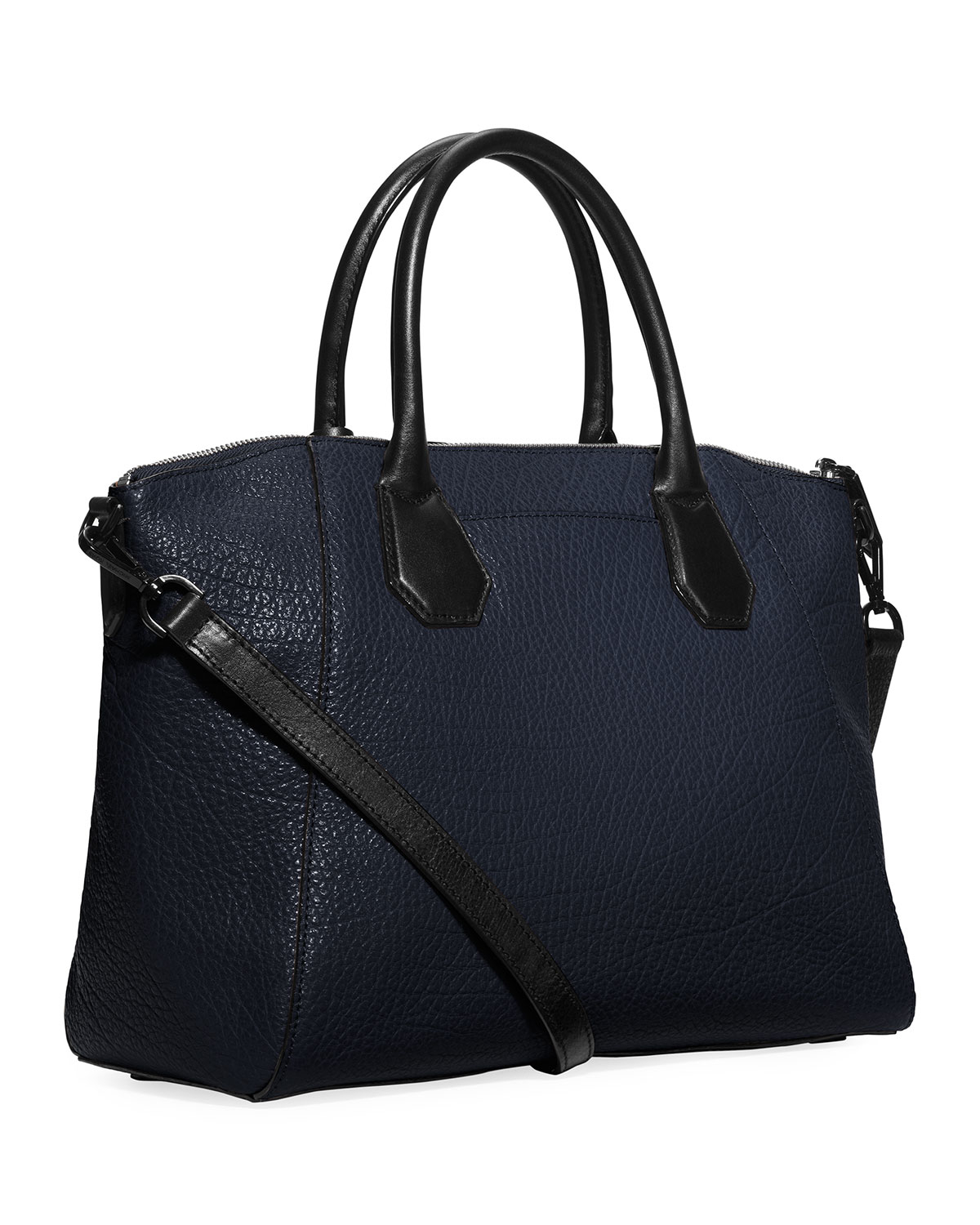 Michael michael kors Campbell Large Satchel Bag in Blue | Lyst