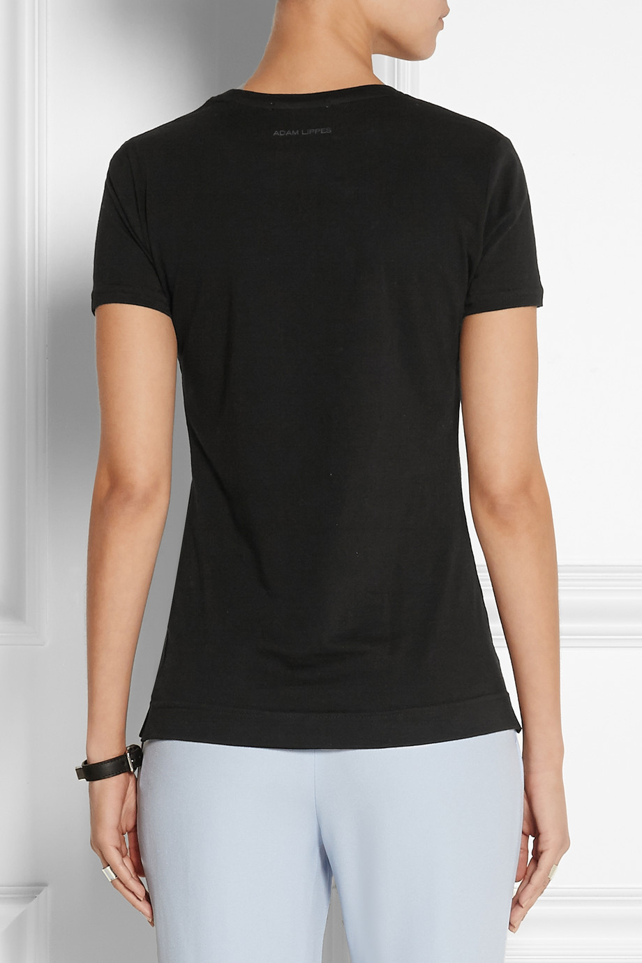 Lyst adam lippes pima cotton t shirt in black for Adam lippes t shirt