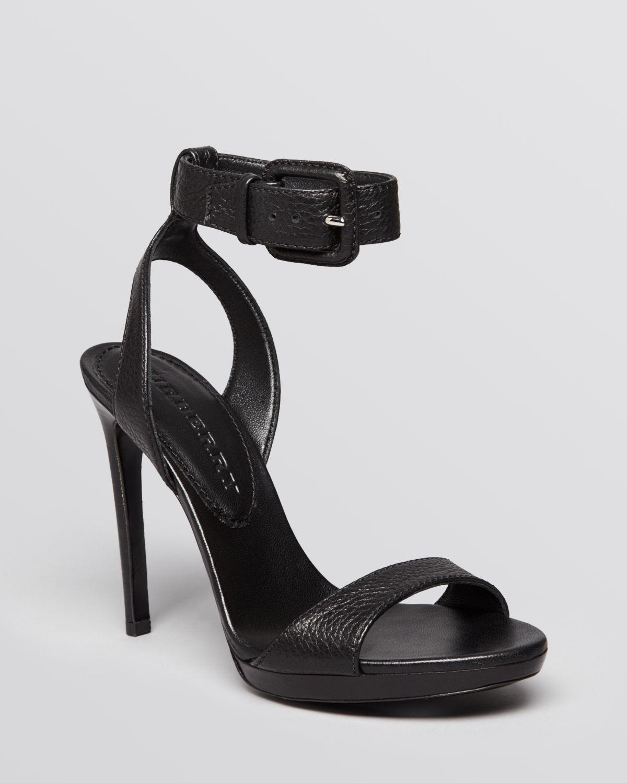 Burberry Sandals Alderney Ankle Strap High Heel In Black