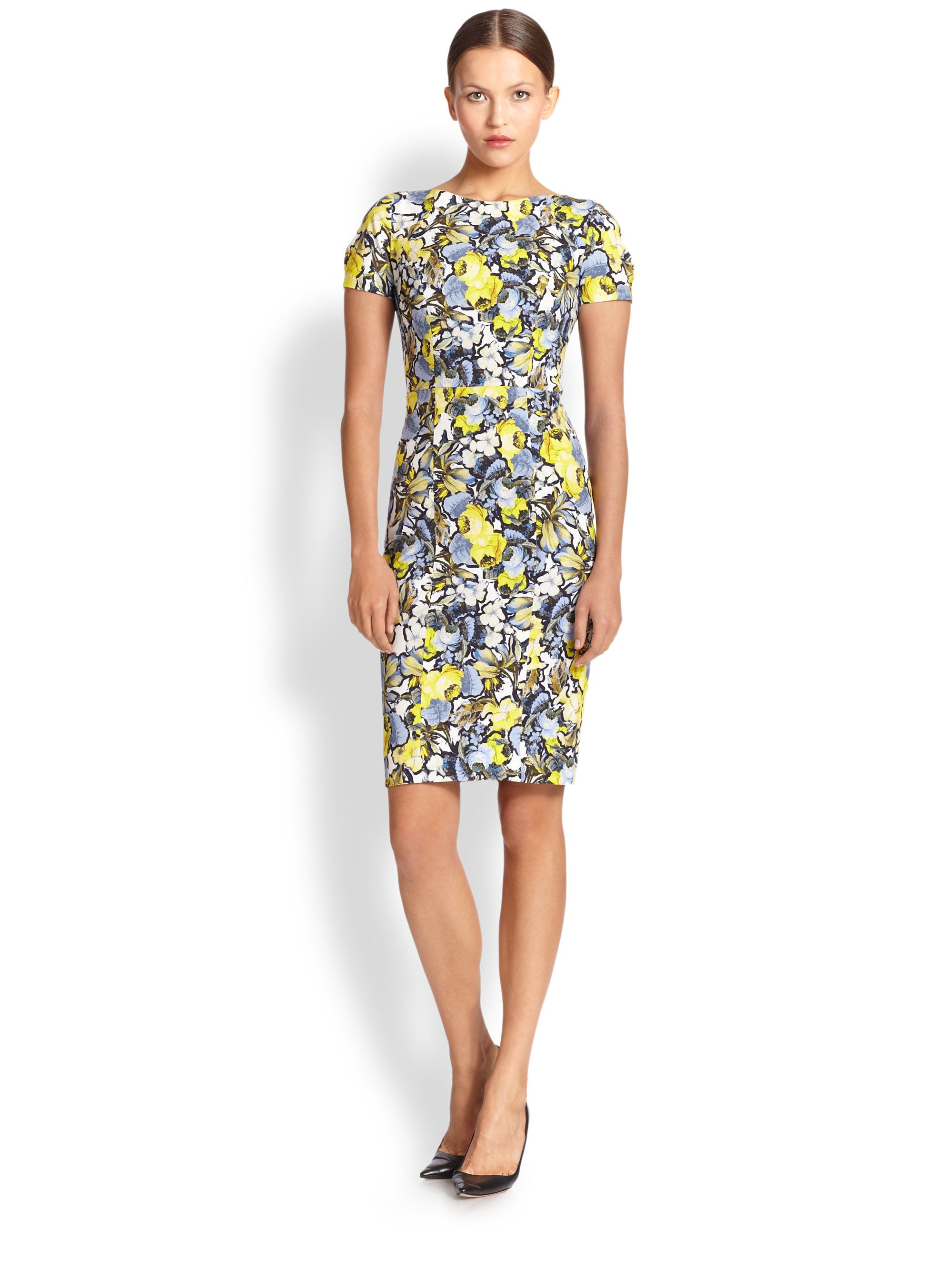 Lyst Erdem Joyce Floral Print Sheath Dress