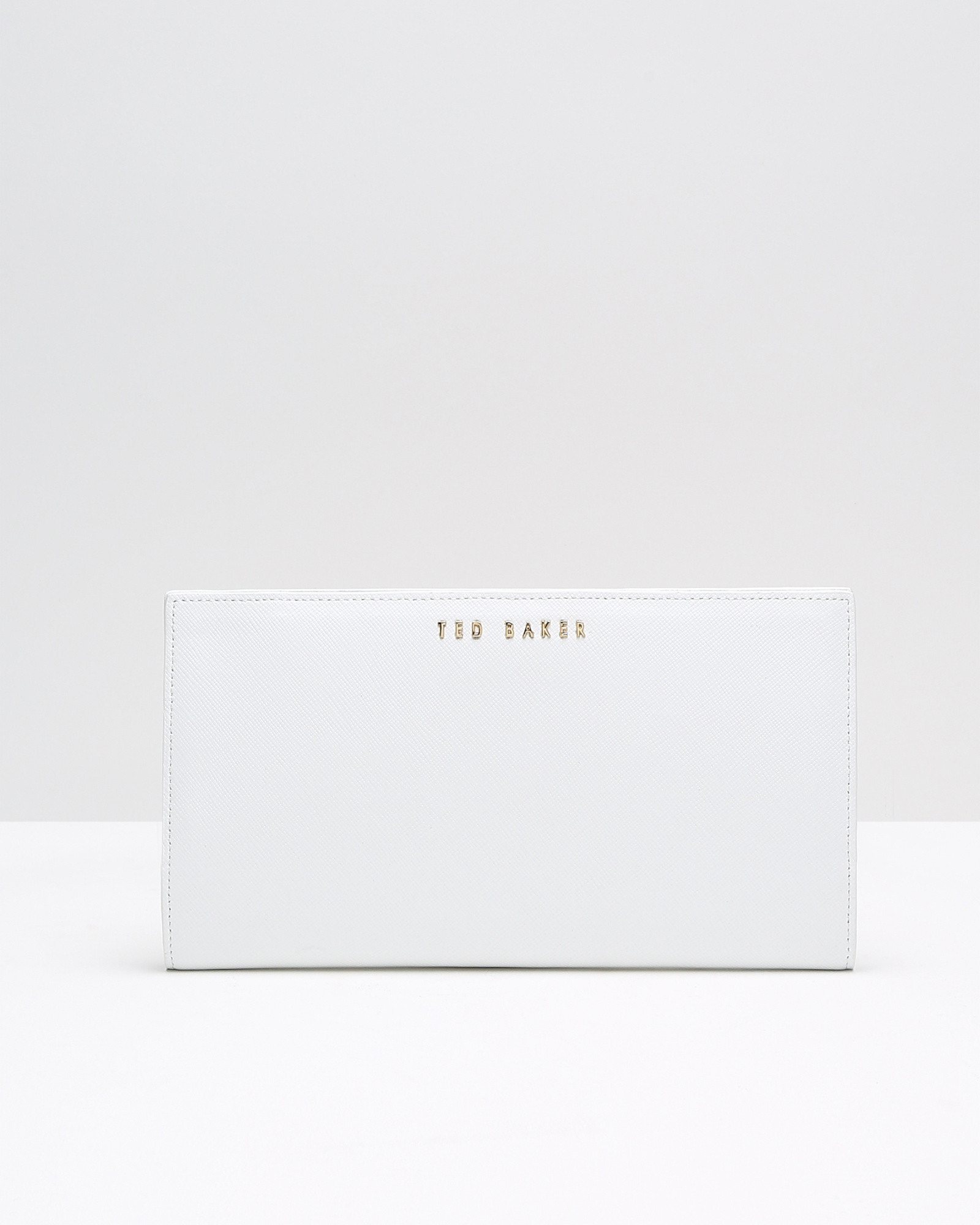 cedc9f4024302 Ted Baker Colour Block Leather Travel Wallet In White Lyst