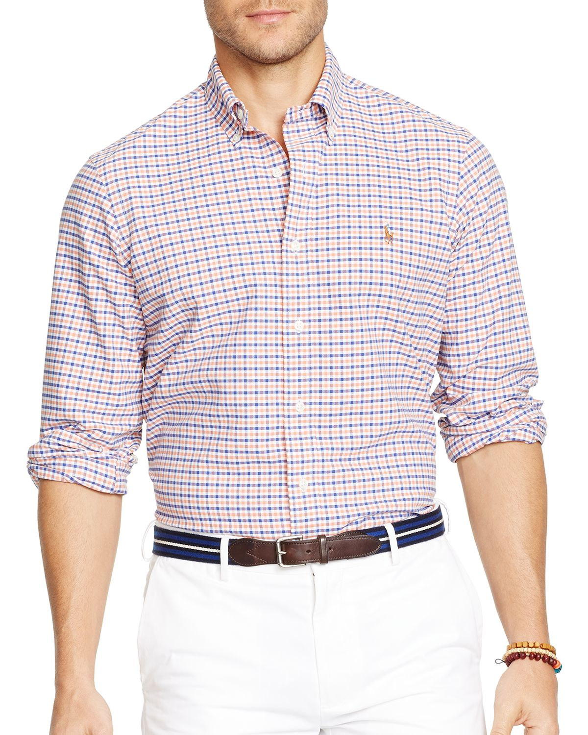 Ralph lauren Polo Checked Oxford Button Down Shirt - Slim Fit in ...