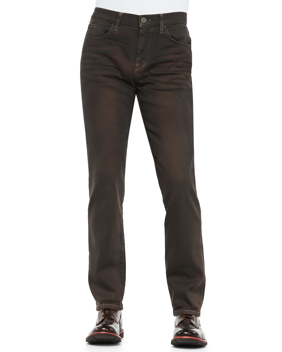 joe 39 s jeans birxton brown oil jeans in brown for men lyst. Black Bedroom Furniture Sets. Home Design Ideas