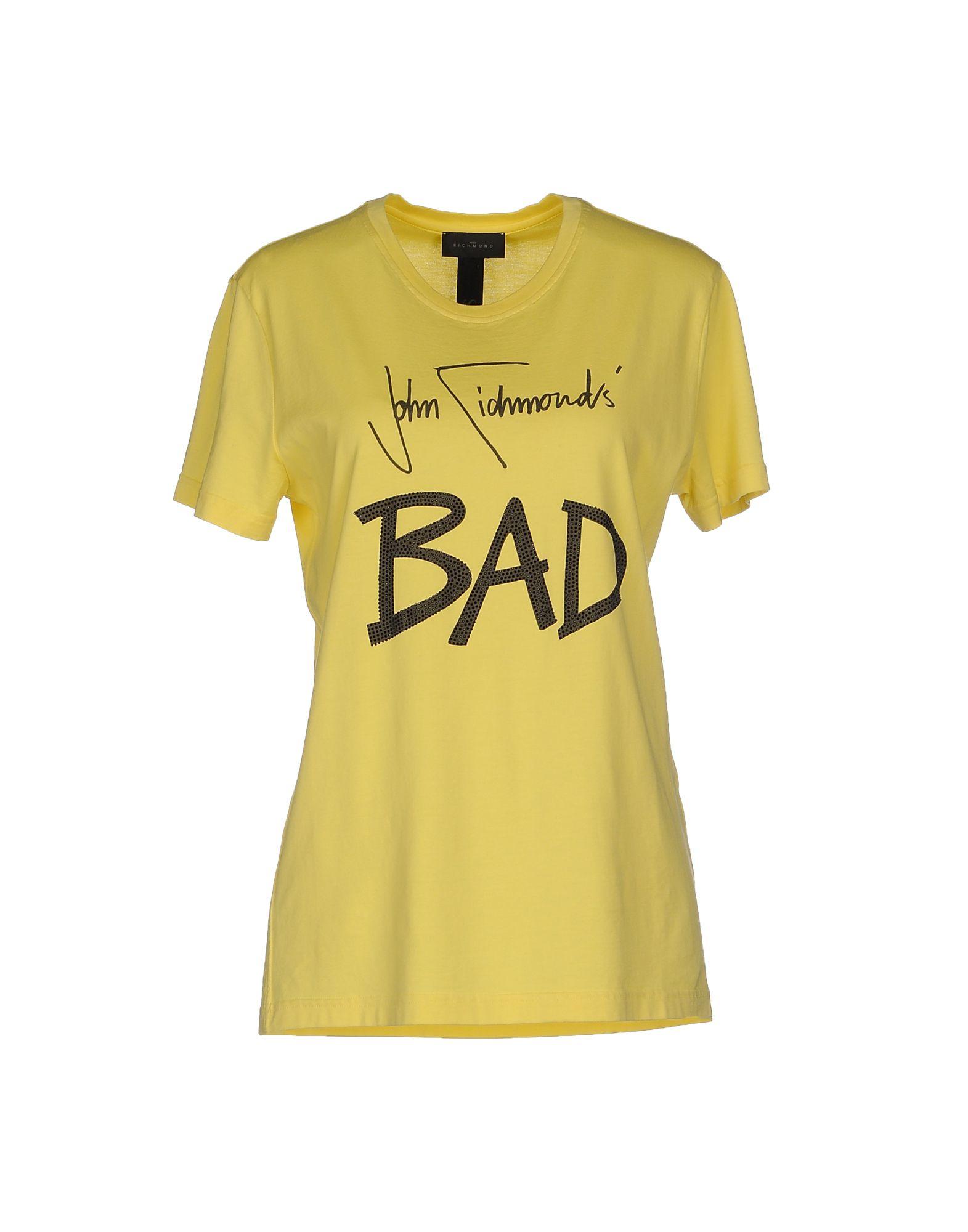 Lyst john richmond t shirt in yellow for T shirt printing richmond va