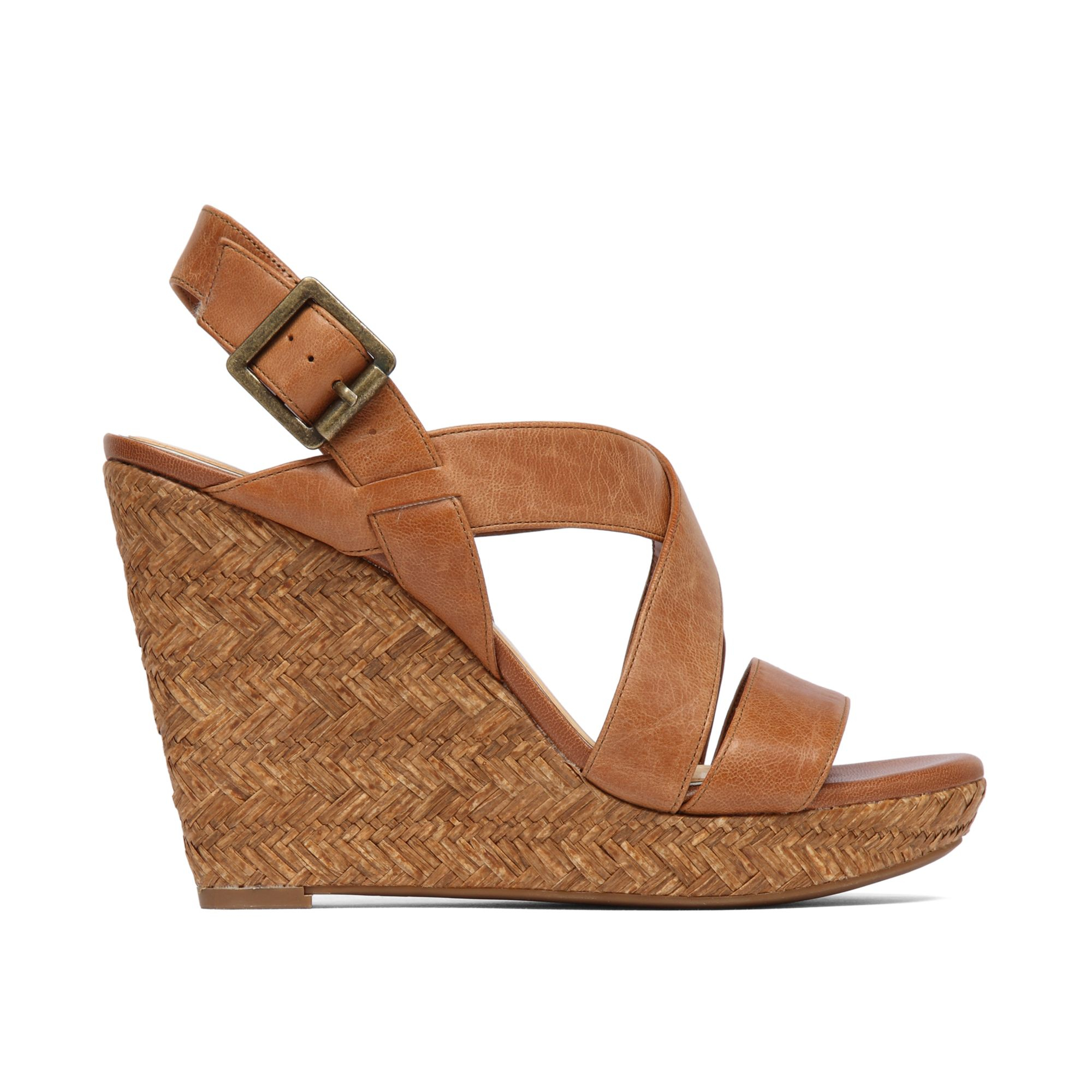 Lyst Jessica Simpson Jerrimo Platform Wedge Sandals In Brown