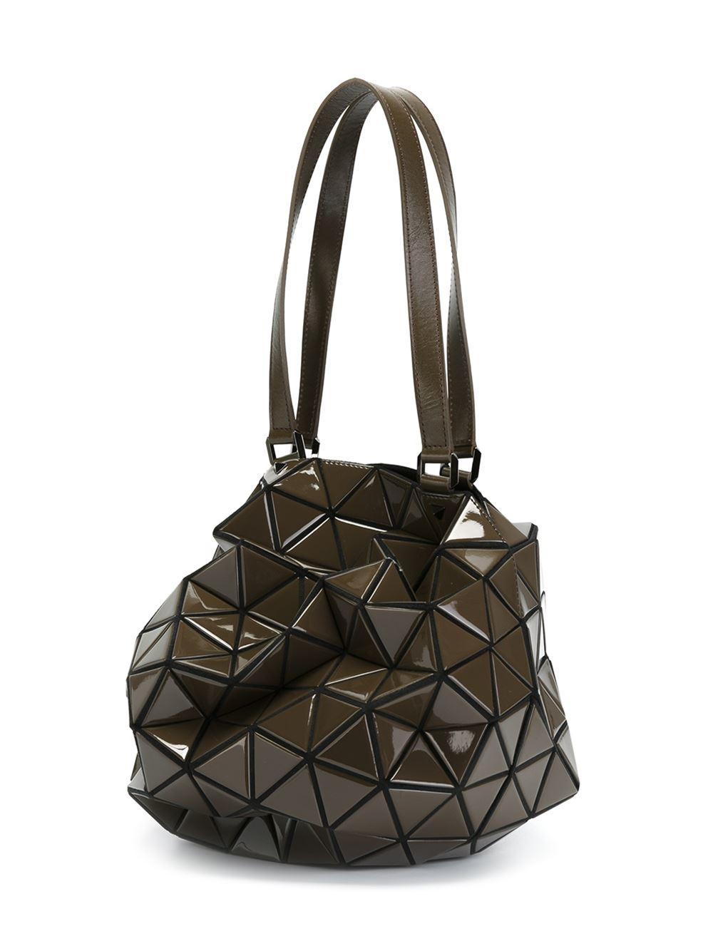 Lyst Bao Bao Issey Miyake Planet Shoulder Bag In Brown