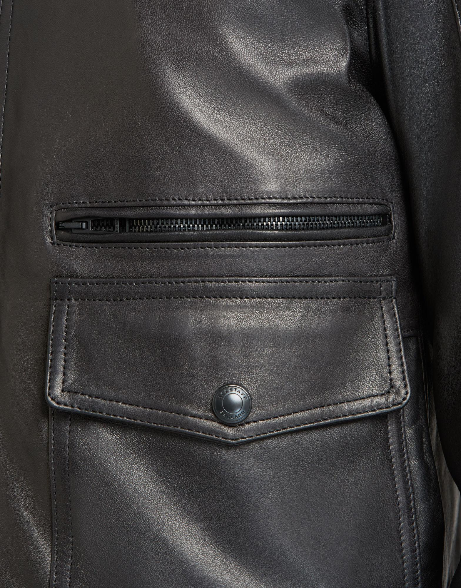 0cc8ce312 Belstaff Hallington Blouson In Black Technical Leather for men